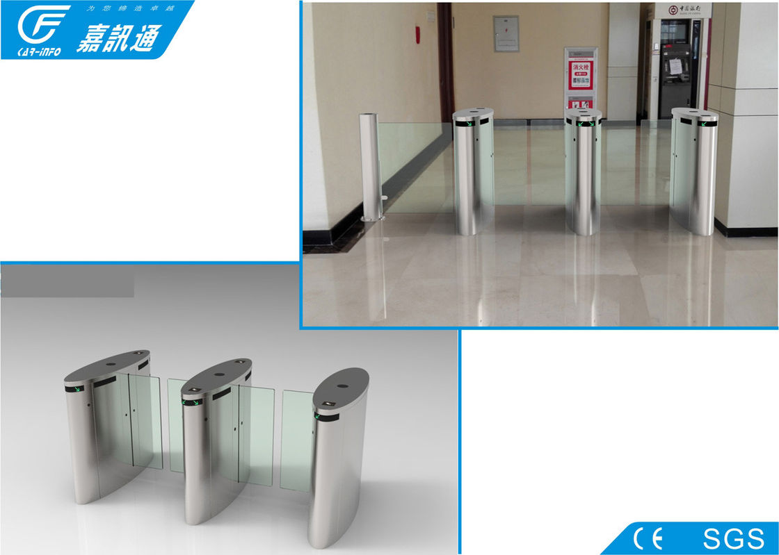 304 Stainless Steel Electronic Turnstile Gates Full Automatic Channel Width550 - 850mm