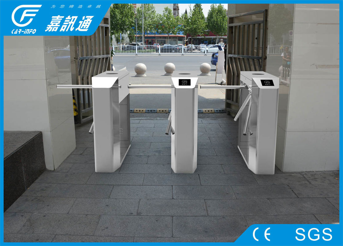 Face Recognition Vertical Tripod Turnstile ID Intergrate Access Control System 3000000 Cycle